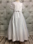 Communion Dress with Faux Full Length Jacket Overlay